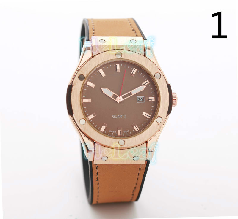 Fashion Hot Sale Leather Strap Watch Men And Women H Series Brand Quartz Watches Black Female Clock Montre Femme
