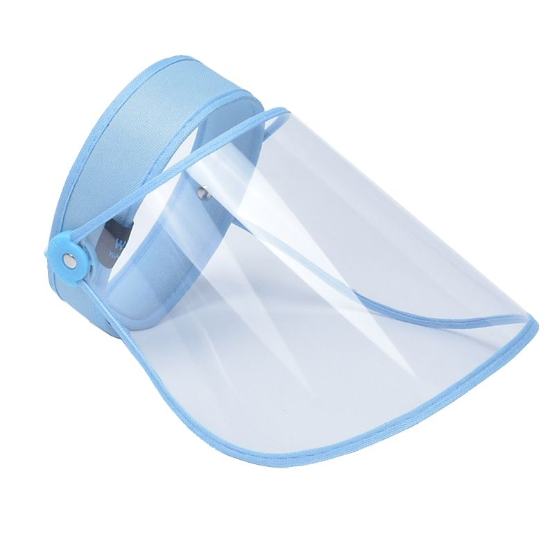 Transparent Anti-Droplet Saliva Empty Top Hat Isolation Mask Safety Face Protection Proof Mask UV Protection Sun Hat Dust-proof