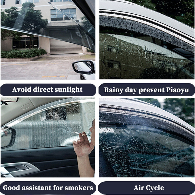 For BMW X5 E53 1998-2006 window visor car rain shield deflectors awning trim cover exterior car-styling accessories parts 5