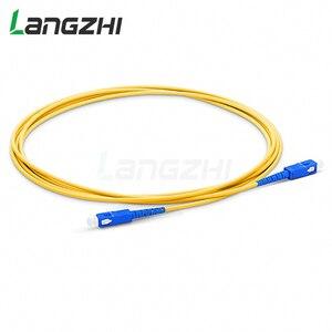 Image 4 - 10 шт. SC UPC to SC UPC Simplex 2,0 мм 3,0 мм ПВХ одномодовый волоконный патч кабель Соединительный волоконный патч корд Fibra Optica Ftth