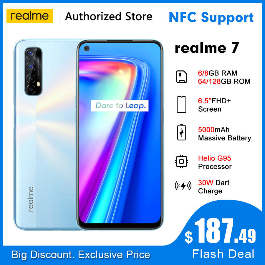 Realme 64gb 6gb LTE/WCDMA/GSM NFC Adaptive Fast Charge Octa Core Side-Mounted 48MP New