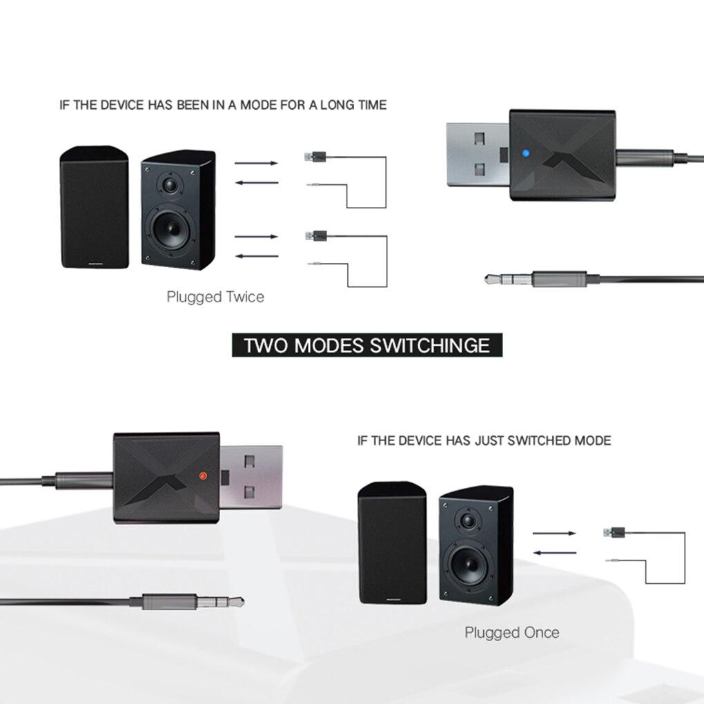 3,5 мм AUX стерео беспроводной адаптер USB Bluetooth 5,0 передатчик приемник ТВ динамик наушники мини Автомобильная Музыка Bluetooth передача