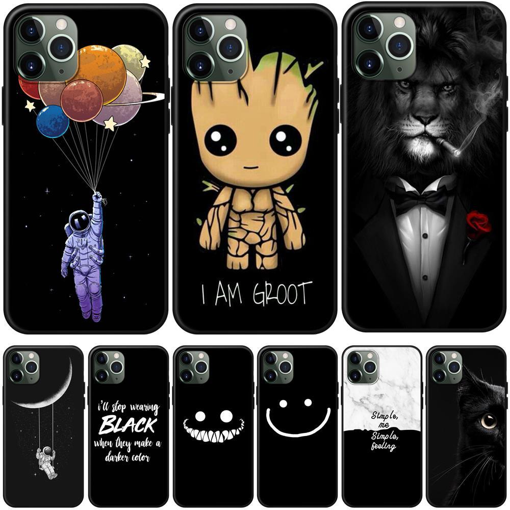 Cartoon Lion Katze Groot Telefon Fall Für iPhone 6 S 6 S 7 8 Plus Fall Silikon Weiche TPU Abdeckung fall Für iPhone X XS MAX XR 11 Pro MAX