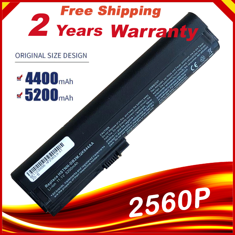 Laptop Battery For Hp EliteBook 2560p 2570P QK644AA QK645AA SX06 SX06XL SX09 HSTNN-C48C HSTNN-C49C HSTNN-DB2L HSTNN-I08C