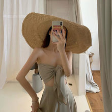 2021 summer travel clothes Chaoxian seaside holiday beach skirt two piece long dress