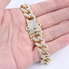Мужские браслеты в стиле хип хоп с большой пряжкой 13 мм