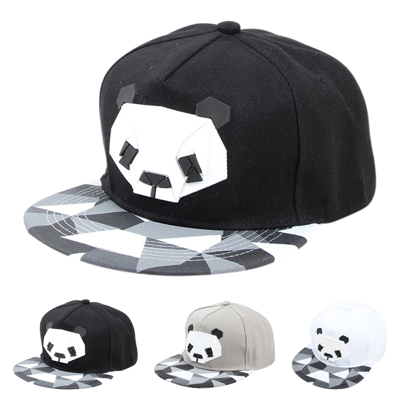 Korean Style Cotton Cartoon Hip Hop Hat Male And Female Rubber Three-dimensional Panda Flat Baseball Cap