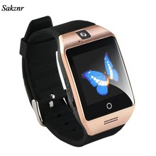 SAKZNR New Bluetooth Smart Watch Smartwatch Q18 Android Phone Call Relogio 2G GSM SIM Card Camera For iPhone Samsung Wrist Watch(China)
