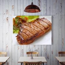 60x90cm Home Background Wall Delicious Steak Lettuce Decor Painting Living Room Kitchen Hanging Painting Creative Wall Decor