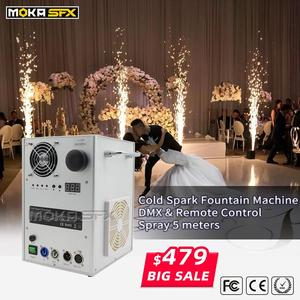 White and black Wedding Stage Fountain Cold Spark Machine Flame Stage Effect Machine DMX Sparkler Firework Machine CE ROHS(China)