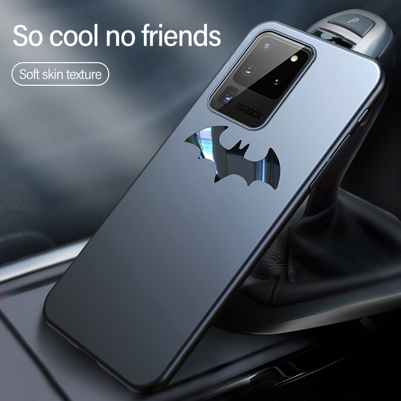Ultra-thin Metal Batman Matte PC Phone Case For Samsung Galaxy S20 S10 5G S9 S8 Note 10 9 8 Plus Magnetic Protection Cover Coque 2