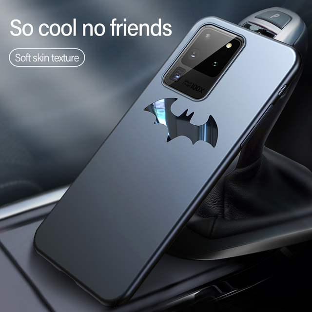 Ultra-thin Metal Bat Matte PC Phone Case For Samsung Galaxy S20 S10 E 5G S9 S8 Note 20 10 9 8 Plus Magnetic Protection Cover 1