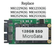 128GB 256G 512 GB MicroSata SSD Para HP 2740p 2730p 2540p IBM x300 x301 T400S T410S Substituir MK1229GSG MK1629GSG MK2529GSG 1.8