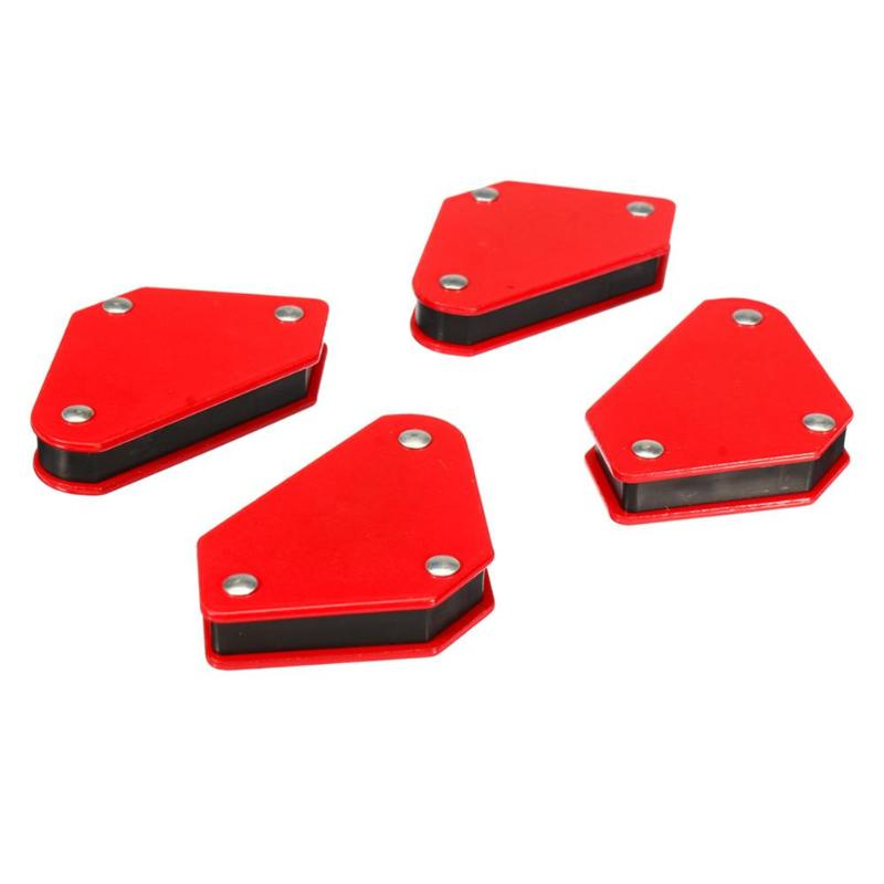 4pcs 3 Angle Arrow Shaped Positioner Mini Welding Alloy Steel Holder Strong Magnetic Accurate Electric Welding Tool Accessories