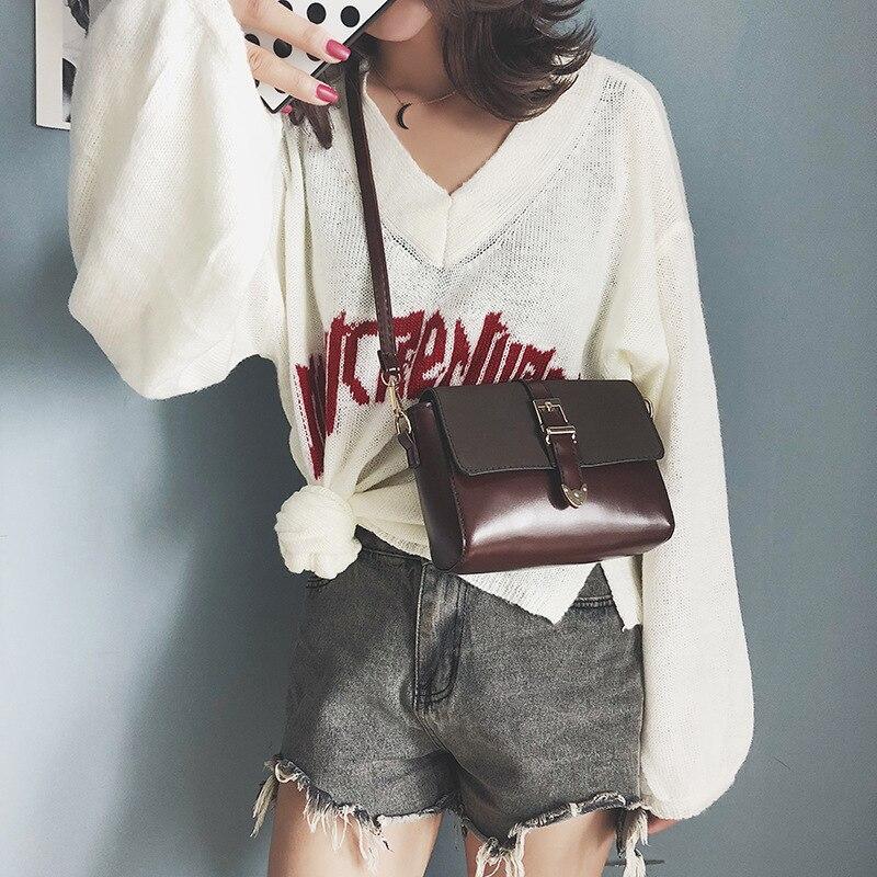 Sacs à bandoulière femmes 2019 haute qualité en cuir pu sacs de messager pour les femmes mode shopping sacs à bandoulière mode noir femmes sac