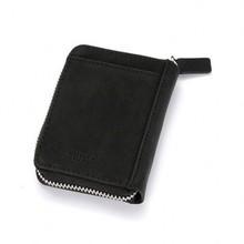 Кошелек на молнии из искусственной кожи с блокировкой RFID, кредитный держатель для карт, двойной короткий кошелек для монет, женский маленький чехол для удостоверения личности