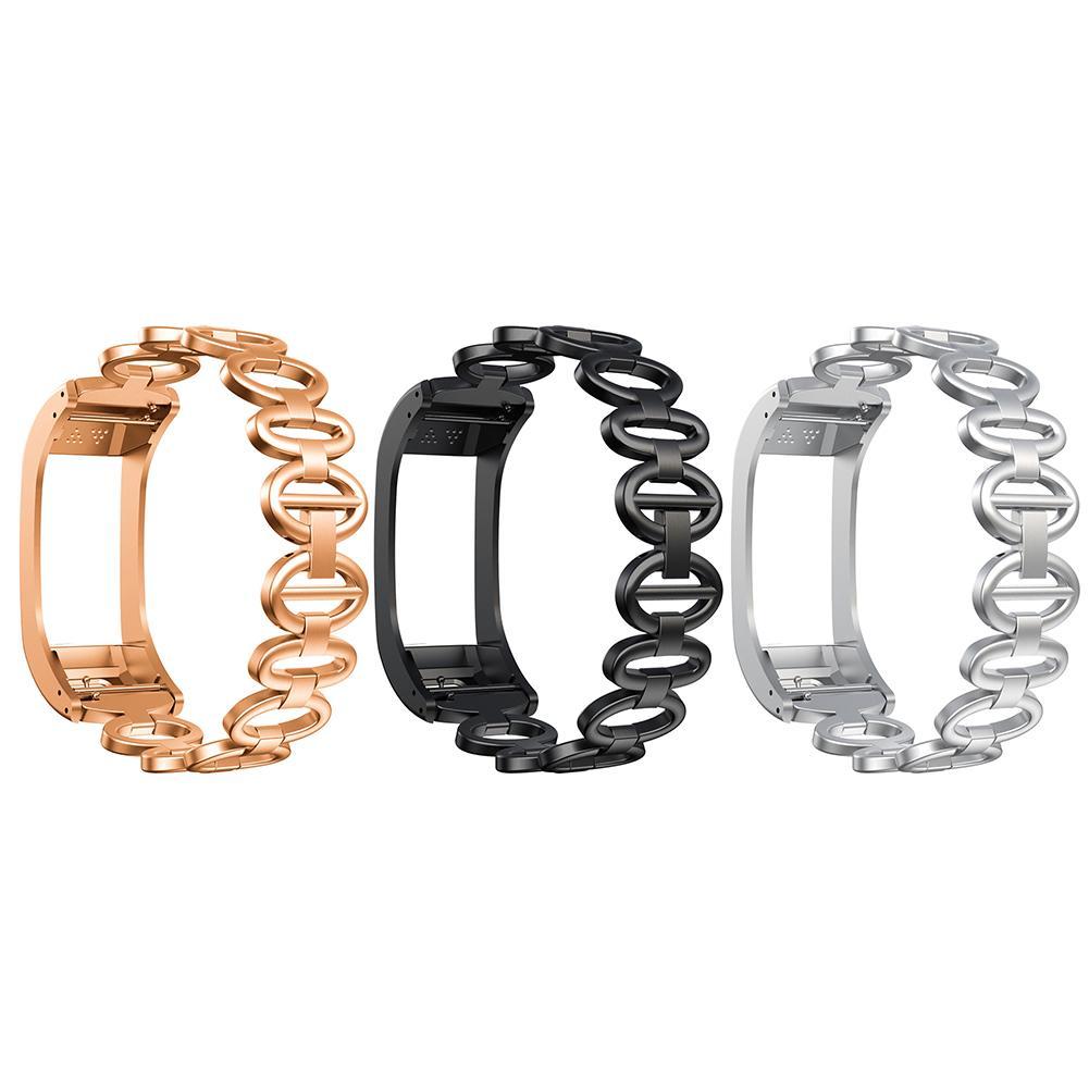 WatchBand Replacement Goose Egg Metal Sport Wristband For Garmin Vivosmart HR+ Smart Bracelet Watch Band Strap Accessories
