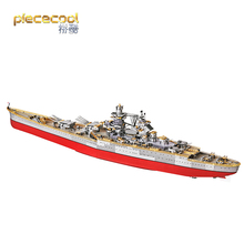 Piece cool 3D Metal Puzzle RICHELIEU BATTLESHIP Model kits DIY 3D Laser Cut Assemble Jigsaw Toys GIFT For Children