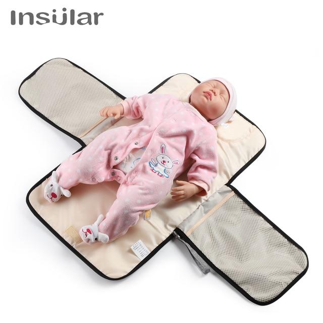Insular Baby Changing Mat Waterproof Mummy Bag Stroller Portable Diaper Changing Pad Travel Table Changing Station Diaper Clutch | Happy Baby Mama