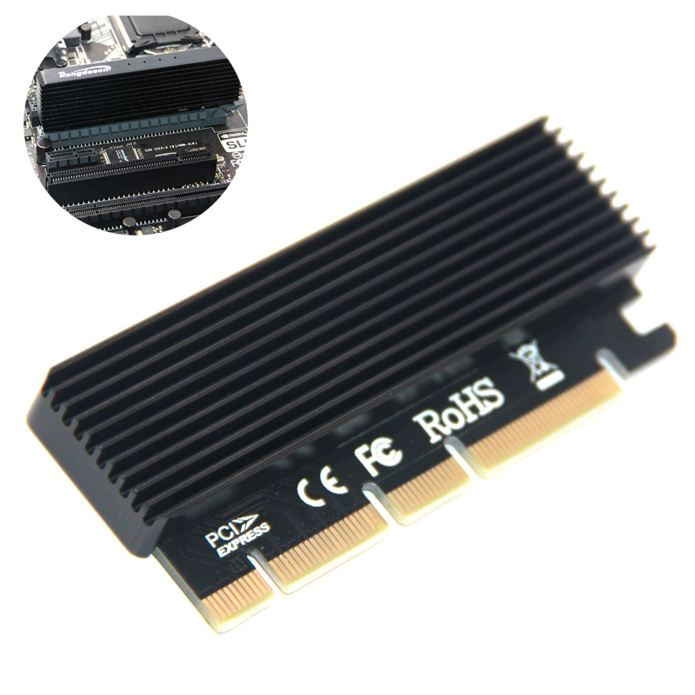 <font><b>M.2</b></font> NVMe SSD NGFF TO PCIE 3.0 X16 Adapter with LED M Key Interface Card Suppor <font><b>PCI</b></font> Express 3.0 <font><b>x4</b></font> 2230-2280 Size <font><b>m.2</b></font> image