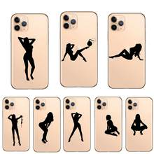 Zachte siliconen telefoon case sexy bikini meisje vrouwen silhouet cover voor iphone 11 Pro Max 6 6S 7 8 plus X 5 SE XR XS MAX(China)
