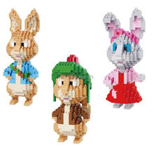 LegoINGlys creators Classic British Comic Peter dwarf rabbit Benjamin lily mini micro diamond building blocks model bricks toys стоимость