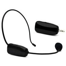 2,4G беспроводной микрофон гарнитура 2 в 1 ручной головной убор Bluetooth микрофон для речевого громкоговорителя учебное руководство для совещаний