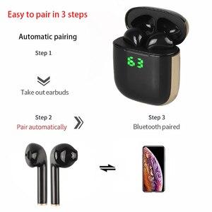 Image 2 - Original WK60 Wireless Earphones Bluetooth 5.0 Earphones TWS Noise Cancelling Headset Digital display Sports Earphone With Mic