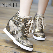 Retro Snake Pattern Breathable Ankle Strap Women's Shoes Casual Sports Mesh Shoes Sneakers Gold Silver Slip On Zapatos De Mujer tropical pattern slip on sneakers