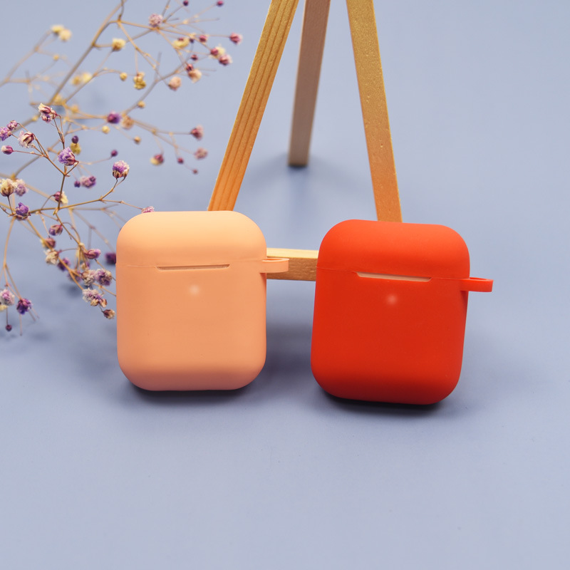 For Apple Airpods Case Silicone Bluetooth Wireless Earphone Fall-Proof Water Proof Sugar Color Headphone Protector