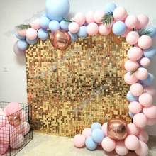 Decor Backdrop Light Glitter Sequin Wall Shimmer Shiny Home Gold-30cmx30xcm Shop Panles