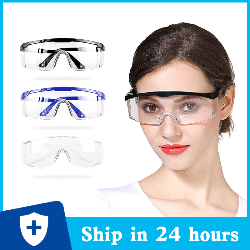Protective Glasses Clear Vented Goggles Safety Glasses Anit-Splash Eye Protection Lab Anti Fog Glasses Security Supplies