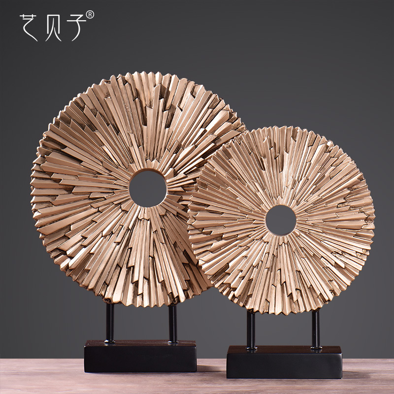 Europe type circle places a household soft adornment modern creative sitting room TV wine ark handicraft porch decoration image