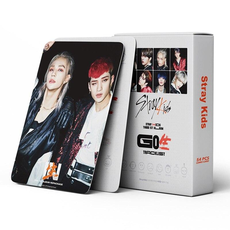 54 шт./компл., Kpop Stray Kids Lomo Card, Фотокарта HD, фотоальбом с принтом, набор самодельных карт для фанатов, подарки