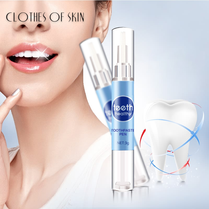 Teeth Whitening Pen Serum Daily Use Tartar Stain Removal Gel White Teeth Oral Hygiene Cleaning Smile Teeth Care CLOTHES OF SKIN