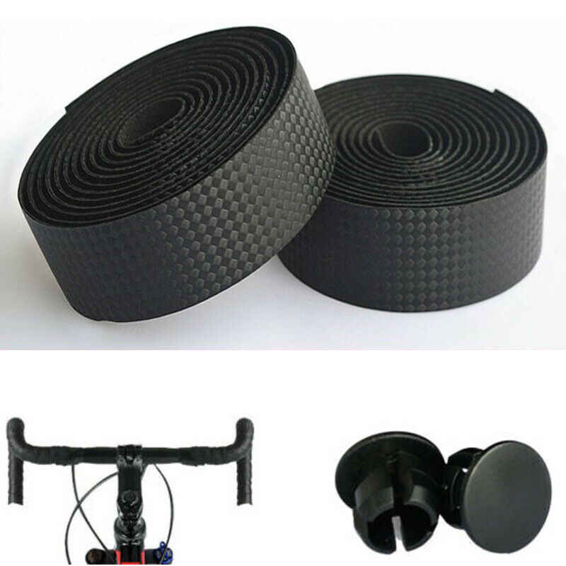 2 PACK Road Bike Handlebar Tape Bicycle Drop Bar Wrap Outdoor Sports Non-slip