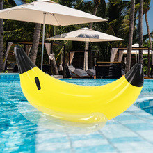 Inflatable Banana Boat float Ride-On Giant Inflatable Swimming Float Banana Floating Pool Banana Ring Toys