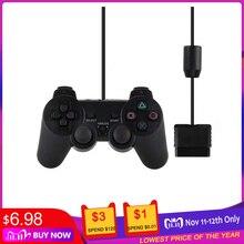有線ゲームパッドPS2用マンドゥPS2/PS2用playstation 2振動ショックジョイパッドゲームコントローラ有線controle