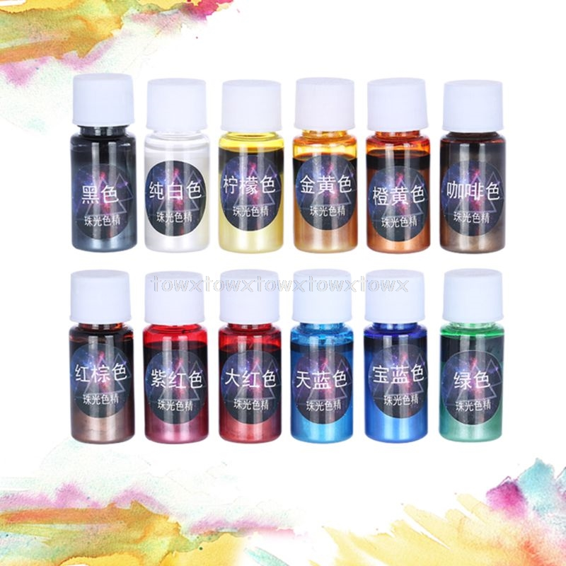 10ml Pearlescent Pigment Powder Rainbow UV Resin Epoxy Material For Color Pigment Powder Au17 19 Dropship