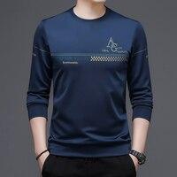 TFETTERS nuovo arrivo T Shirt abbigliamento uomo 2021 autunno manica lunga o-collo Tee top moda Smart Casual t-shirt antirughe uomo