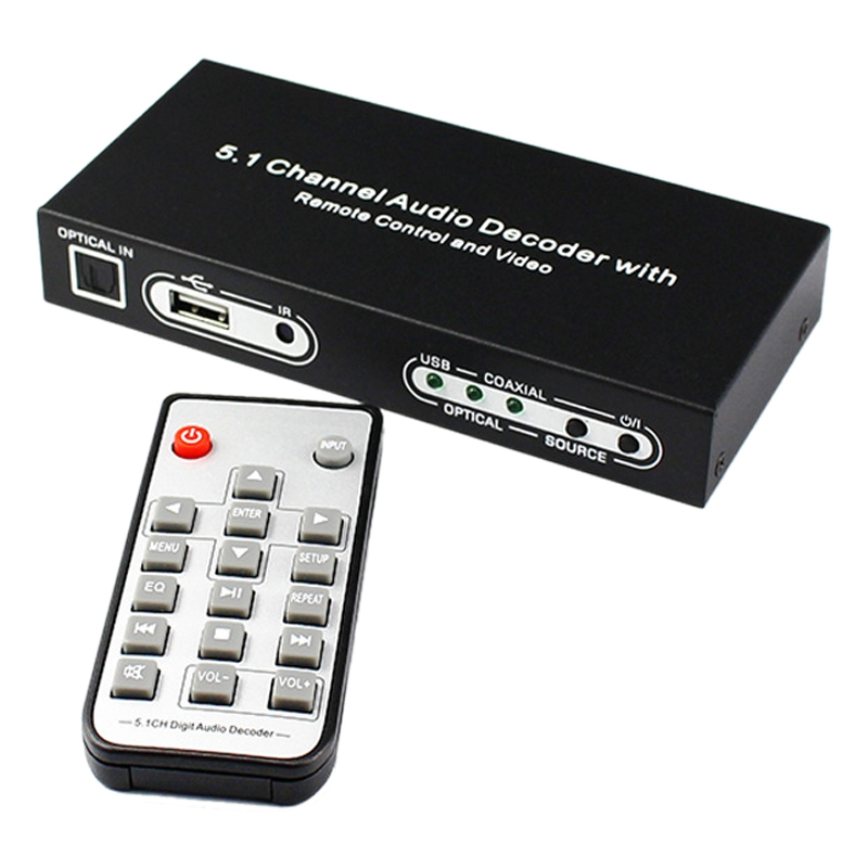 o Decoder USB <font><b>Optical</b></font> Fiber Converter Digital to Analog Digital <font><b>Optical</b></font> 5.1 Decoder Supports Remote Wake-Up(EU Plug) image