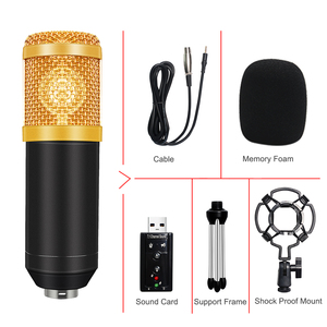 Image 5 - BM 800 Condenser Microphone Kit For Computer With Sound Card Shock Mount Wired 3.5mm XLR Cable Karaoke BM800 Mic Recording