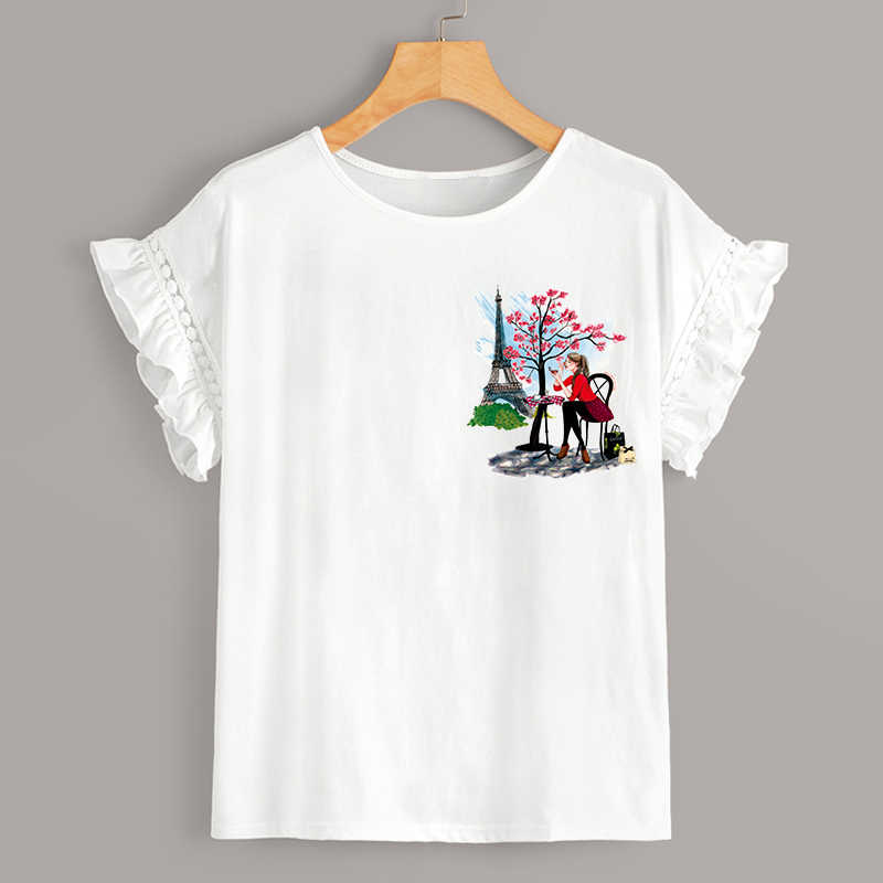 ملصقات انيقة للسيدات برج ايفل بارتشيز ملصقات نقل الحرارة يمكن غسلها على الرقع للفتيات ملابس سهلة الاستخدام بارتشيز