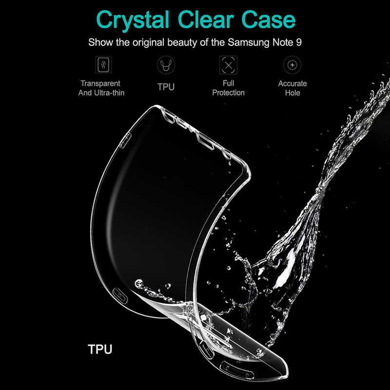 Cubiertas cristalinas ultrafina suave de TPU para Samsung Galaxy Note 10 Pro cubierta trasera para teléfono transparente Galaxy S9 S10 Plus 5G