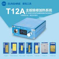 Placa base de nivel medio para iPhone 11 pro Max, SS-T12A de desmontaje de calefacción facial en capas, placa base de nivel medio