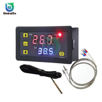 цена на K-type Thermocouple Thermometer Thermostat -60°C~ 500°C Digital Temperature Controller Heating Cooling Switch NTC Sensor W3230