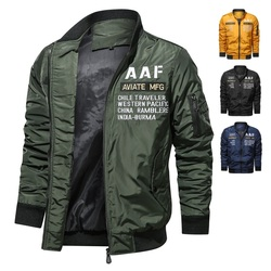 Jacket Coats Men Stand Collar Motorcycle Washed Men's Bomber Jackets Casual Male Military Cotton Pilot Coat Army Cargo Flight