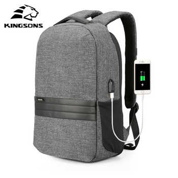 Kingsons Men Backpacks 15.6 inches Shoulder Bags in Men's Casual Daypack for Business Laptop Backpack USB Recharging Travel Bag - DISCOUNT ITEM  40% OFF All Category