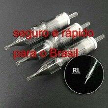30pcs קעקוע מחסנית מחטים חד פעמי חצי קבוע איפור גבות קעקוע עט מכונת אספקת 1RL/3RL/5RL /7RL/9RL/11RL/14RL