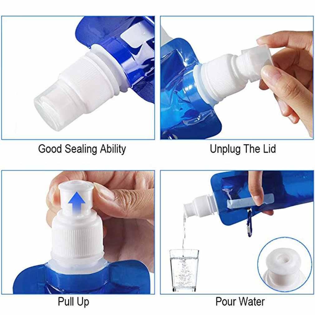 Bolsa plegable para botella de agua potable, bolsa de agua al aire libre para senderismo PE, bolsa de agua suave para correr, bolsas de agua para ciclismo